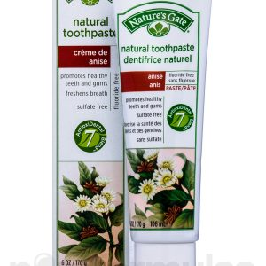 Natures Gate - Natural Toothpaste Creme de anise (6 oz  170 gr)