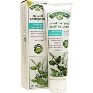 Natures Gate - Natural Toothpaste Creme de pepermint (6 oz  170 gr)