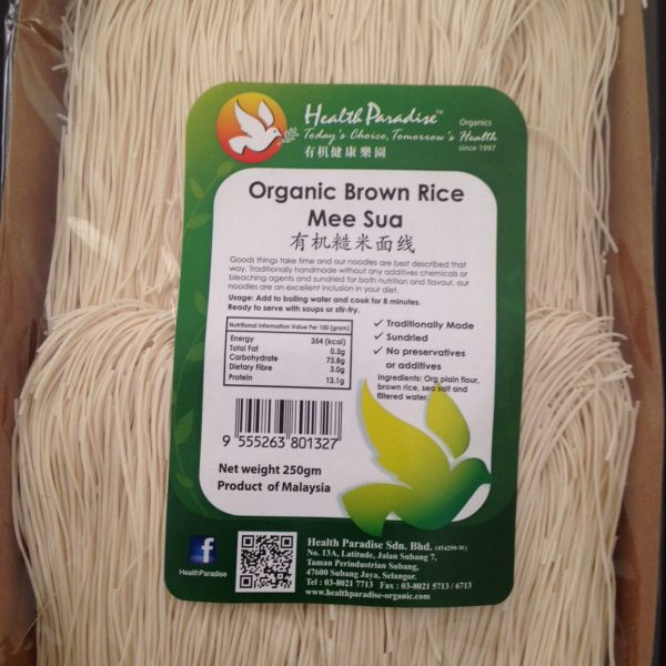 Health Paradise - Organic Brown Rice Mee Sua (250 gr)