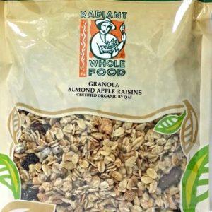 Radiant Whole Food - Organic Granola Almond Apple Raisins (300 gr)