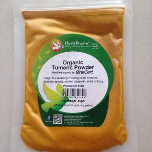 Healthy Paradise - Organic Tumeric Powder (50 gr)
