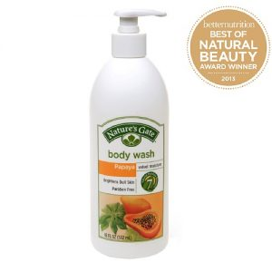 Natures Gate Organic Velvet Moisture Body Wash - Papaya
