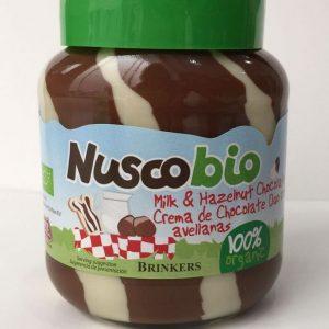 Brinkers - Nuscobio Organic Milk & Hazelnut Chocolate Spread Selai Susu Coklat (400 gr)
