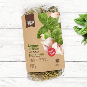 Ladang Lima - Veggie Noodle Healthy Mie (Basil & Garlic) 150 gr