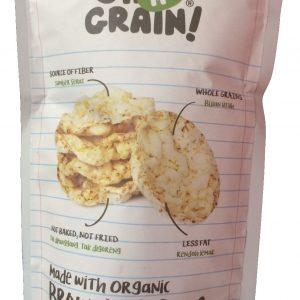 Oh Ma Grain - Organic Brown Rice Crackers Snack Seaweed 50 gr