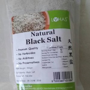 Lohas - Natural Black Salt ( Garam Hitam Alami ) 500 gr
