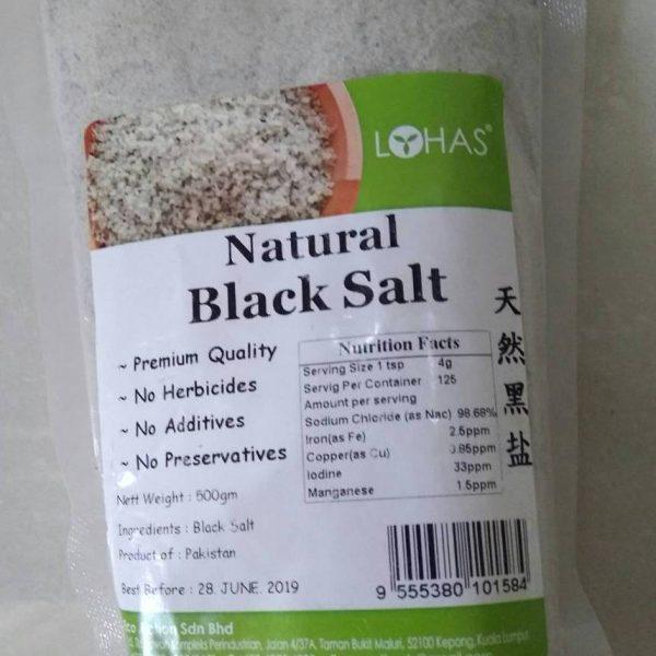 Lohas - Natural Black Salt ( Garam Hitam Alami ) 500 gr
