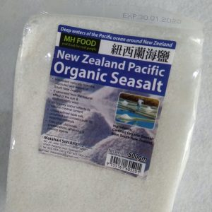 MH Food - Organic Sea Salt New Zealand Pacific ( Garam Laut ) 500 gr