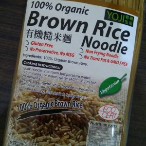 Yoji - Organic Brown Rice Noodle ( Mie ) 300 gr 2