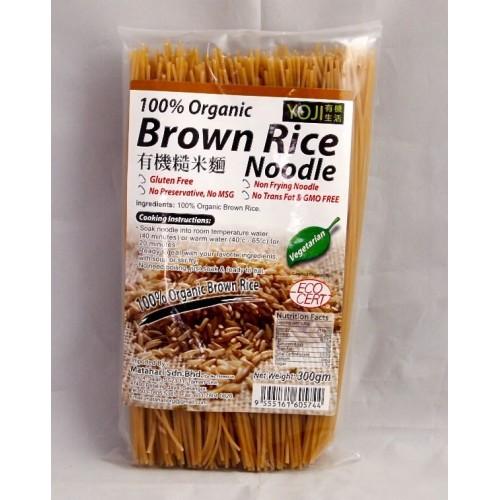 Yoji – Organic Brown Rice Noodle ( Mie ) 300 gr – Jual