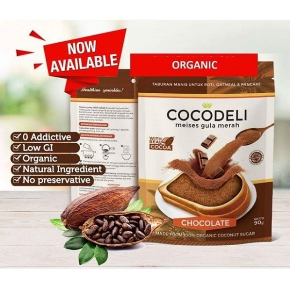 Meises Coklat Gula Merah Organik ( Chocolate ) 90gr - Cocodeli 1