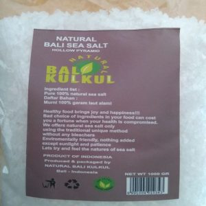Coarse Grain Sea Salt Garam Laut 1 Kg - Natural Bali Kulkul 1