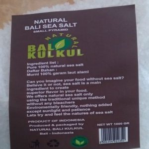 Coarse Kechil Sea Salt Garam Laut 1 Kg - Natural Bali Kulkul 1