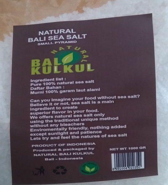 Coarse Kechil Sea Salt Garam Laut 1 Kg - Natural Bali Kulkul 1