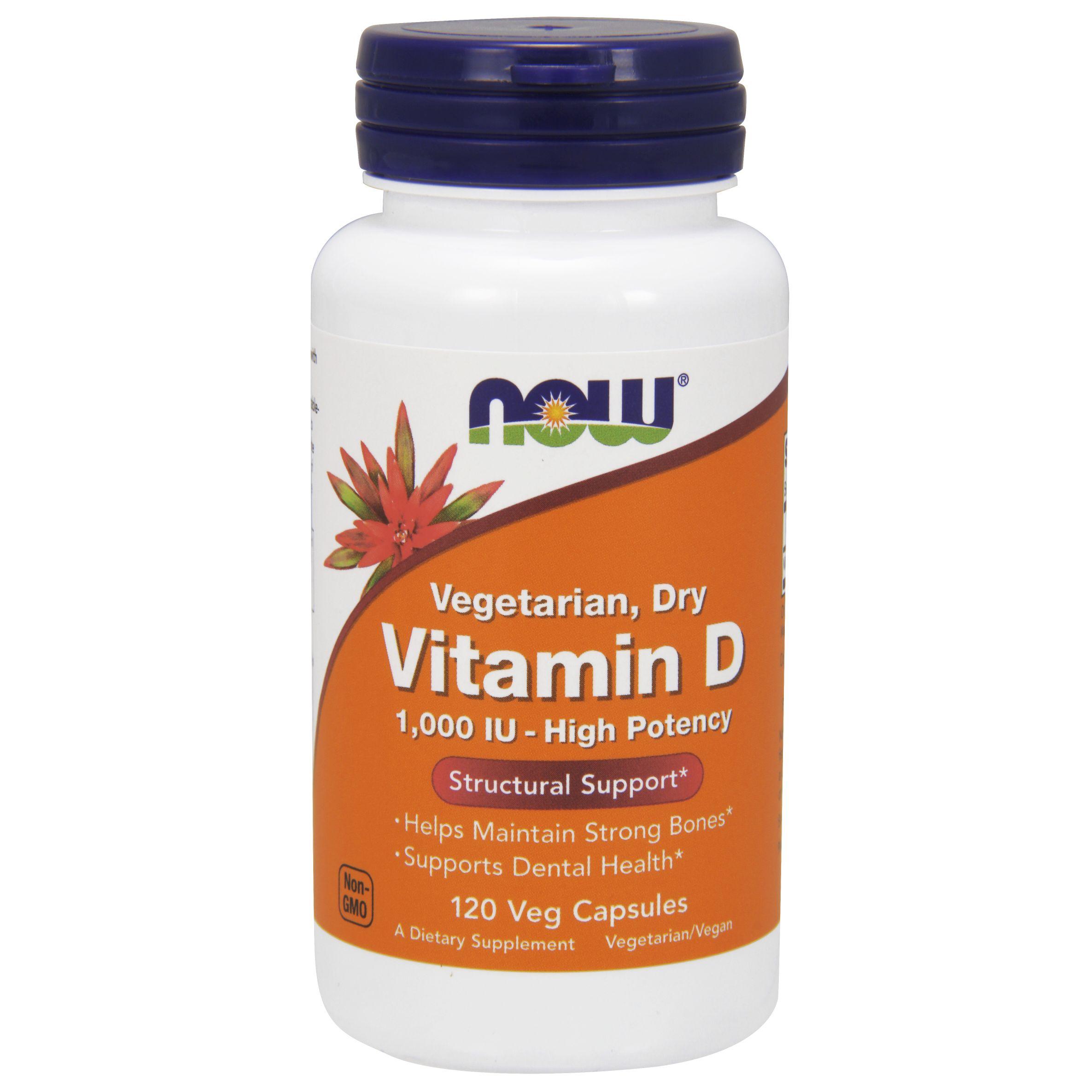 Macrobiotic Diets: Vitamin D 1000 IU 120 Vegetarian Capsules