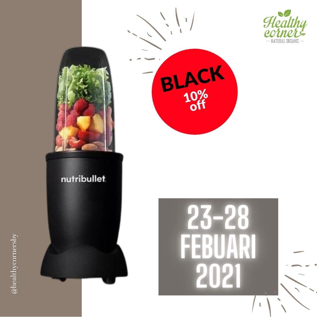 Blender Nutribullet Pro 900 Matte Black 9pc set Promo